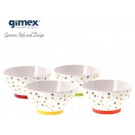 Zestaw misek Rainbow Flowers 4szt - Gimex