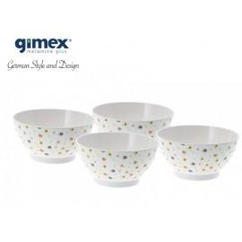 Zestaw misek Flowers 4szt - Gimex