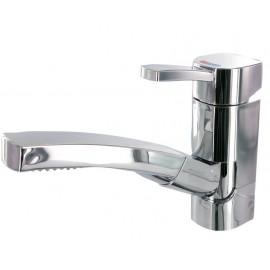 Kran w wylewką i prysznicem wyciąganym