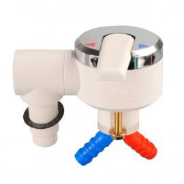 Mikser jednoręczny Perfect do podłączenia prysznica biało/chromowy