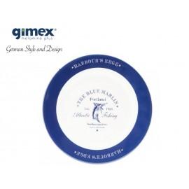Talerz obiadowy Blue Marlin 1szt - Gimex