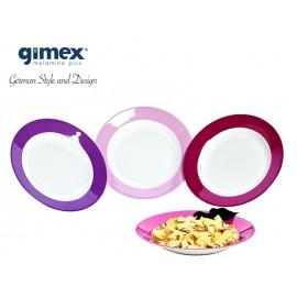 Talerz głęboki Purple Rain 1szt - Gimex