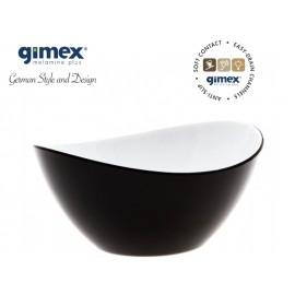 Miska sałatkowa antypoślizgowa średnia czarna 1szt melamina Gimex