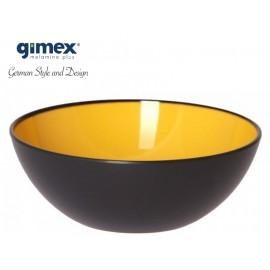Miska z serii GreyLine żółta 1szt - Gimex