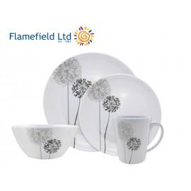 Zestaw obiadowy Monochrome 16el. melamina Flamefield
