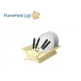 Ociekacz składany kremowy - Flamefield