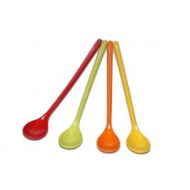 Zestaw łyżeczek do Latte Macchiato Rainbow 4 sztuki - Gimex