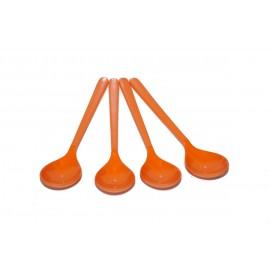 Zestaw 4 łyżeczek do herbaty pomarańczowych z serii Rainbow melamina Gimex