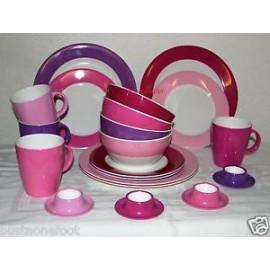 Zestaw 4 łyżeczek do herbaty ciemnoróżowych z serii Purple Rain melamina Gimex