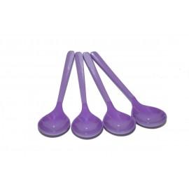 Zestaw 4 łyżeczek do herbaty fioletowych z serii Purple Rain melamina Gimex