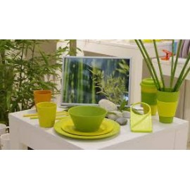 Zestaw łyżeczek Rainbow do latte zielonych 4szt. Gimex melamina