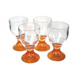 Pucharki 4szt. pomarańczowe-melamina Flamefield