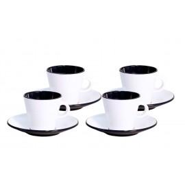 Zestaw do espresso 4el. Linea Black melamina Gimex