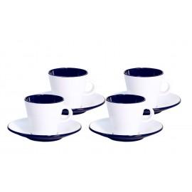 Zestaw filiżanek do espresso 4el. Linea Blue melamina Gimex