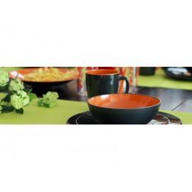 Zestaw obiadowy Greyline pomarańczowy 12 el. Gimex