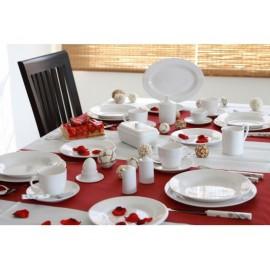 Zestaw obiadowy Edelweiss biały klasyczny 16 el - Gimex
