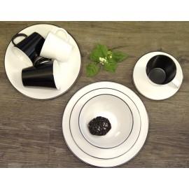 Zestaw obiadowy 12el. Linea Black melamina Gimex