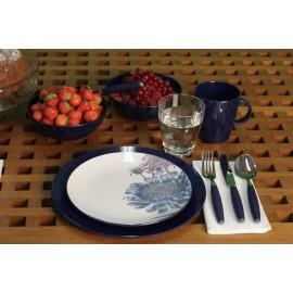 Zestaw obiadowy 16el. Chrysantheme melamina Gimex