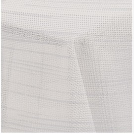 Obrus na stół kremowo srebrny 130x160
