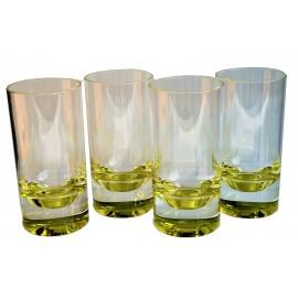Zestaw szklanek zielone dno 4szt. melamina Flamefield