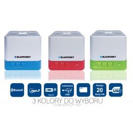 Blaupunkt BT02WH - Przenośny głośnik Bluetooth z radiem i odtwarzaczem MP3