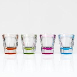 Zestaw kieliszków 4szt kolory polycarbon- melamina Flamefield