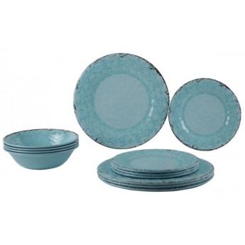 NEW Zestaw obiadowy antypoślizgowy Stone Line Opale 12el. melamina Gimex