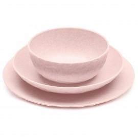 Talerz obiadowy głęboki seria Organic różowy 22cm Koziol