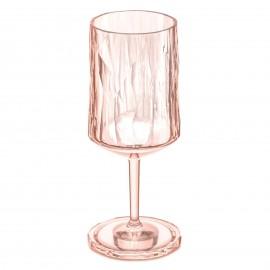 Kieliszek do wina seria Superglass brzoskwiniowy firmy Koziol