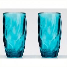 Zestaw szklanek turkusowych wysokich 2szt. melamina Flamefield