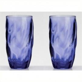 Zestaw szklanek niebieskich wysokich 2szt. melamina Flamefield