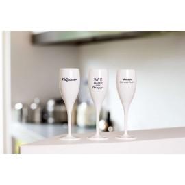 Kieliszek do szampana z napisem GRL PWR Koziol