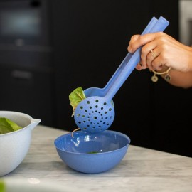 Łyżki do serwowania sałaty Palsby Organic 30 cm niebieska