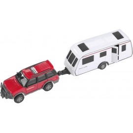 Zabawka dla dzieci terenówka z przyczepką  28cm