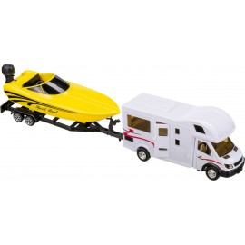 Zabawka dla dzieci Kamper z motorówka 36 cm