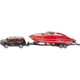 Zabawka dla dziecka samochód z łódka
