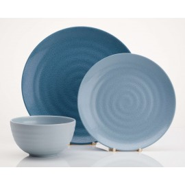 Zestaw obiadowy Shades of Blue Flamefield